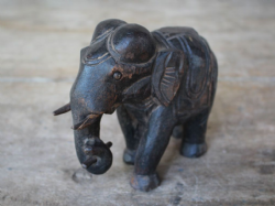 Antique Tribal Elephant Sculpture in Rosewood, Rajasthan - <b>SOLD<b>